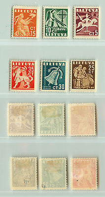 Lithuania, 1940, SC 317-322, mint. e1621