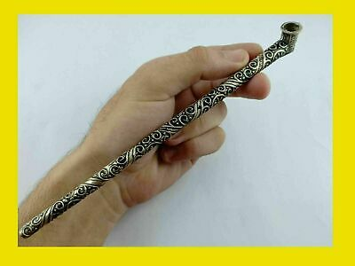 Ancient-Rare-Pipe-silver-bronze-Viking-Tobacco-Artifact-Stunning-Extremely
