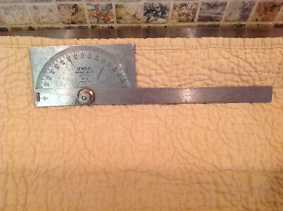 Vintage General Hardware No. 17 Stainless Steel Machinist Protractor