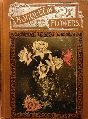 """Collectible 19th Century Christian Garden """"Bouquet of Flowers"""" Antique Decorated"""
