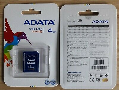 New 4GB SD Card ADATA SDHC Class 4 Memory Cards x 76 units