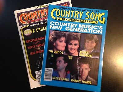 2 Country Song Roundup magazines lot, July, August 1987, good condition, vintage
