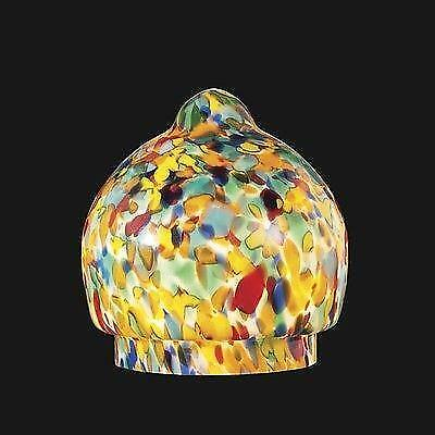 "3 1/4"" fit Spatter Art Deco Globe For Antique Figural Radio Lamp Light Shade"