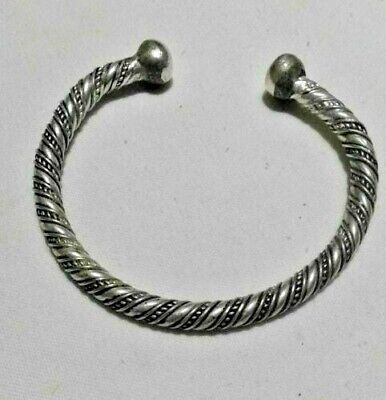 EXTREMELY ANCIENT ANTIQUE RARE VINTAGE BRACELET VIKING SILVER ARTIFACT Old