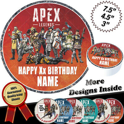 Apex Legends Cake Topper Personalised Round Circle Edible Icing Print