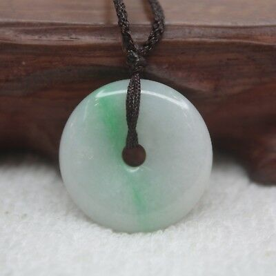 Real 100% Natural A Grade Jade/Jadeite Craved Bless Peace Circle Pendant