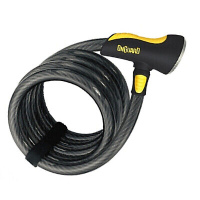 Onguard Doberman 8028 Bike Cable Lock Anti-Theft Security For Cycles