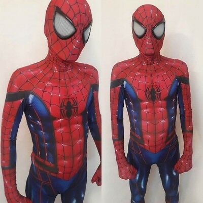 MCU Concept Art Spiderman Costume Adult 3D Spandex Halloween Cosplay Zentai Suit