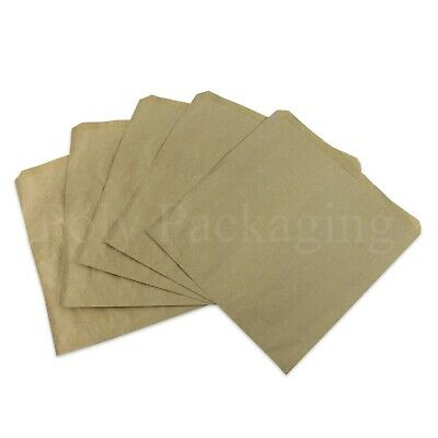 """BROWN PAPER BAGS 8.5x8.5""""(216x216mm)Medium for Kids Party Bag Fillers ANY QTY"""