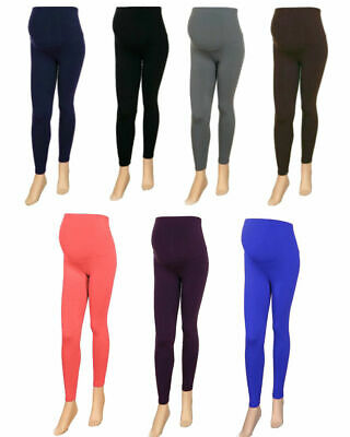 NEW Women's Full Ankle Length Pregnancy Maternity Over the Bump Leggings 8 to 26