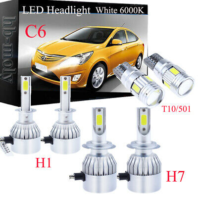 For Vauxhall Insignia 2008-16 Side//Low//High Beam 501 H7 H1 Xenon Headlight Bulbs