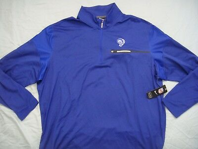 Discount NEW NIKE LOS Angeles Rams White Poly Long Sleeve Shirt (2XL
