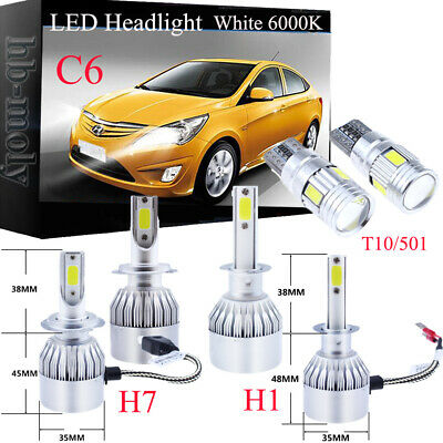 For Vauxhall Zafira B 2005-2011 Side Low High Beam 501 H1 H7 LED Headlight Bulbs