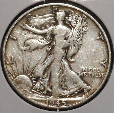 Walking Liberty Half - 1945-S - Overstock Sale! - $1 Unlimited Shipping-020