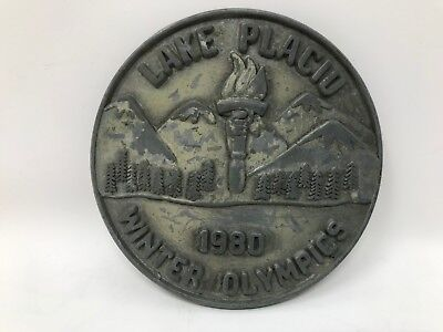 Vintage 1980 Lake Placid Olympic Belt Buckle