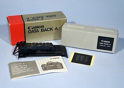 Canon Data Back A * Boxed & Fully Working * A-1 AE-1 AE-1 Program etc...