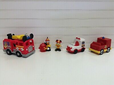 Disney Mickey Mouse Clubhouse Save The Day Fire Truck Ambulance Figures Lot Set