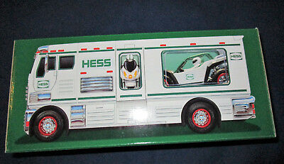 HESS TRUCK-2018-NEW-RV with ATV and MOTORBIKE-8 ENERGIZER BATTERIES INCLUDED