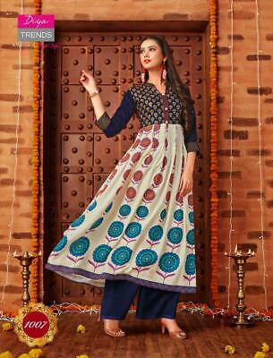 Indian Kurta Kurti Bollywood Women Designer Dress Bottom Long Tunic Top Gown New