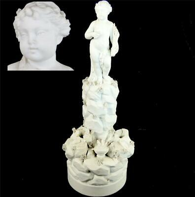 N904 Antique 18Th Century French Biscuit Porcelain Figure Group Putti