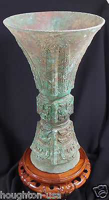 Ancient Chinese Ritual Bronze Wine Vessel Cup (Gu) Shang Dynasty + Translation!