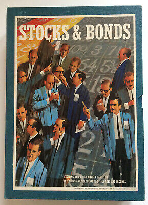 3M Vintage Stocks And Bonds Bookshelf Board Game Complete 1964