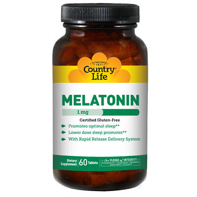 Melatonina (Rapido Rilascio) 60 Compresse 1 MG da Country Life