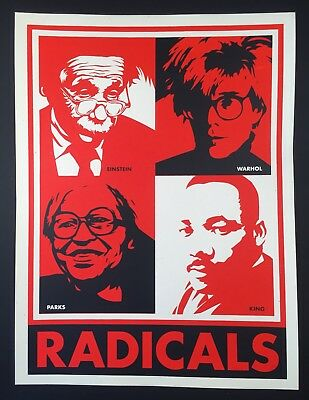 OBEY GIANT Shepard Fairey RADICALS 2003 UNIQUE Proof ART Screen Print Poster