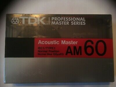 Tdk Am60 Professional Master Series Factory Sealed Audio Cassette