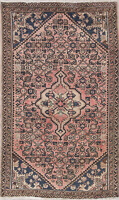 Hamedan Persian Old Semi Antique 5x3 Wool Handmade Geometric Oriental Area Rug