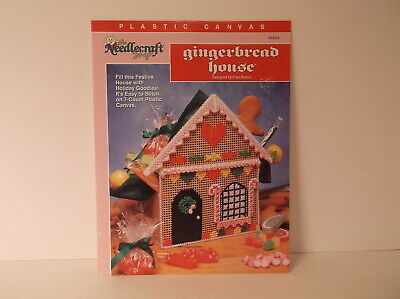 1993 The Needlecraft Shop Gingerbread House Plastic Canvas Pattern Leaflet