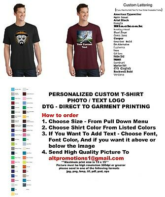 T Shirt T-Shirt Customized Picture, Front, Back, Photo,