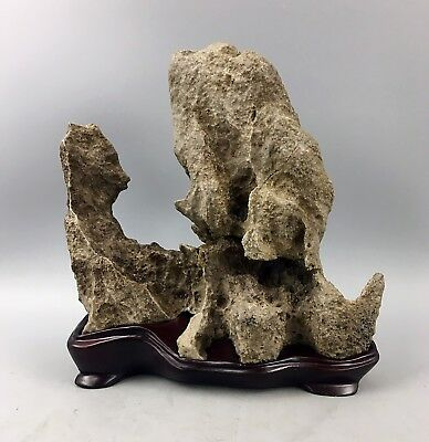 Natural polished Viewing stone suiseki-scholar rock Ying stone Rough Decor
