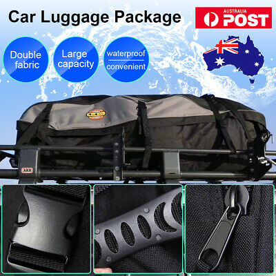 Durable L Universal Waterproof Car Roof Top Rack Bag Carrier Fold Travel Luggage