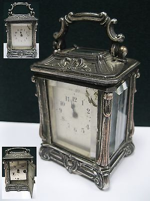 ANTIQUE MINIATURE CARRIAGE CLOCK ALARM 19 CENTURY Russia Empire for restoration