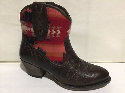 37b7d2450f1 NEW WOMENS ARIAT 10016318 Meadow Wicker/Pendleton leather cowboy ...