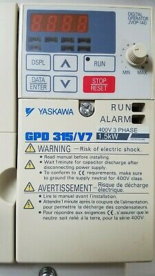 Yaskawa 3 HP CIMR-V7AM22P2 200-230V 11A AC VS Drive GPD 315//V7 15.1 Amp 3PH 22P1