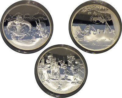Lot RARE 3x1,5euro France 2007 - ASTERIX (2 296 ex.) BE PP argent silver silber