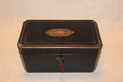 French Antique Maison Vervelle Tea Box Napoleon III