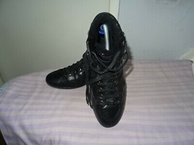 Mens Hugo Boss Black Leather Bootlike Lace-Up Shoes Uk 7/Eu 41 Great Condition