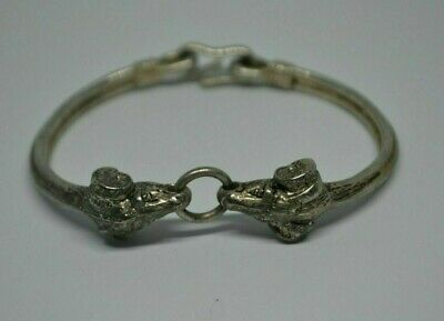 Scarce Ancient Viking Norse SILVER MIX Bracelet Decorated VINTAGE artifact