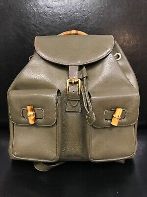 a9d5fdf499f GUCCI VINTAGE BAMBOO Backpack Leather Mini -  490.00