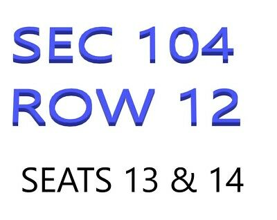 2 BTS Chicago Tickets Sun May 12th 2019 SEC 104 Row 12 Seat 13 and 14