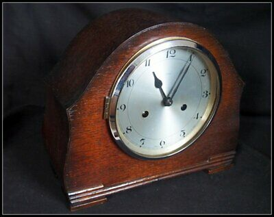 Enfield Mantel Clock Vintage Oak Cased.