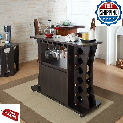Sideboard Buffet Table Server Kitchen Bar With Wine Rack Storage Cabinet Dining