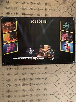 Vintage RUSH Band Poster 1982 Large 34 X 22 EXIT STAGE LEFT Era -Back Stage Club