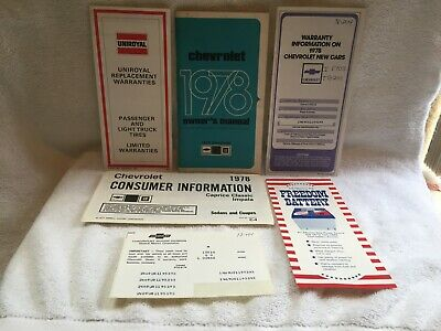 1978 Chevrolet Owners Manual Plus Extra's