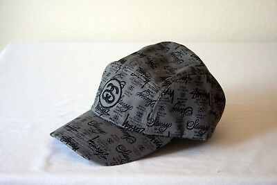 cb083b8b736 New Stussy Ss Link World Tour Admiral Embroidery Cotton Charcoal Hat 5 Panel
