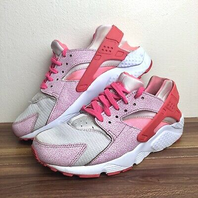 hot sale online f5064 ee091 Nike Air Huarache Pink White Trainers Ladies Girls Size UK 5 Max 90 95 97
