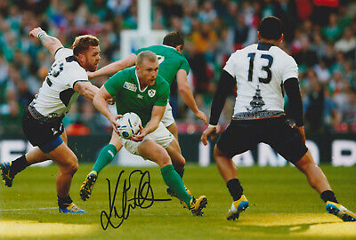 "Keith Earls signed 12x8"" Ireland rugby photo / COA"